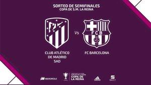 Atlético y Barça se verán las caras en las semifinales de la Copa de la Reina