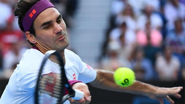 La brillante volea de Federer