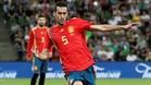 Busquets, en un partido con España
