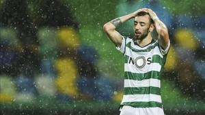 La calidad de Bruno Fernandes posibilitó los dos primeros goles del Sporting