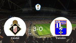 El Caudal Deportivo consigue los tres puntos en casa tras pasar por encima al Vallobin CD (3-0)