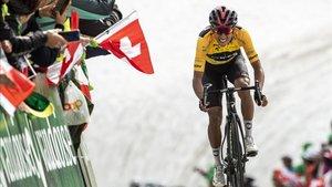 El colombiano Egan Bernal durante el Tour de Suiza de 2019