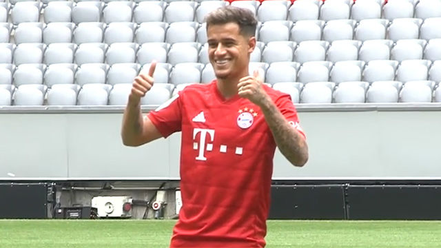 Coutinho ya pisa el césped del Allianz Arena