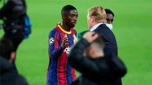 Dembélé, a solo año y medio de finalizar su contrato con el Barça