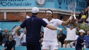 Feliciano conquistó el cuadro de dobles con Andy Murray