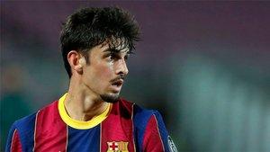 Francisco Trincao, no puede elegir entre Messi y Cristiano