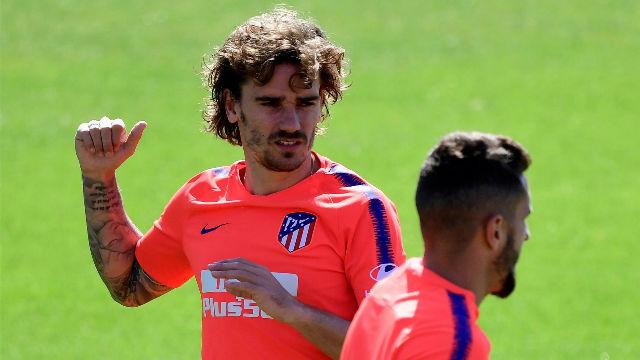 Griezmann entrena con normalidad con el Atlético