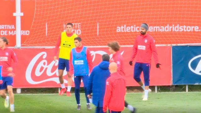 Hoy Diego Costa sí entrenó
