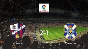El Huesca consigue la victoria en casa frente al Tenerife (2-1)