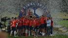 Independiente celebra el título