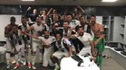La Juventus celebró el triunfo en el Camp Nou