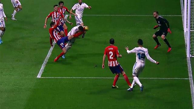 LALIGA | Atlético Madrid - Real Madrid (0-0): Patada de Lucas a Ramos