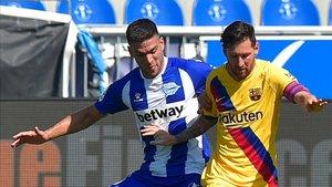 Leo Messi, en el partido contra el Alavés