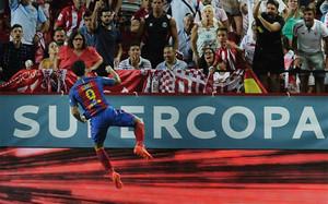 Luis Suárez abrió el marcador en la ida de la Supercopa de España