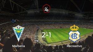 El Marbella se impone por 2-1 al Recreativo