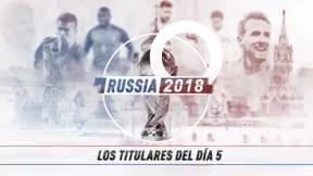 Lo más destacado de la jornada 5 del Mundial