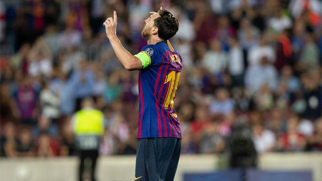 Messi debuta en Champions a lo grande: hat-trick y exhibición