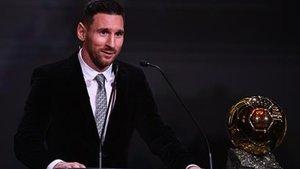Messi, ganador del Balón de Oro 2019, el sexto en su palmarés