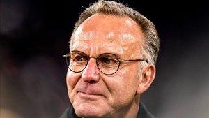 El mítico Karl-Heinz Rummenigge, presidente del Consejo Directivo del Bayern