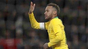 Neymar fue el autor del gol de la victoria