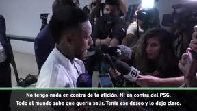 Neymar: Todo el mundo sabía que quería irme