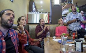 Pablo Iglesias disfrutó viendo los partidos de la selección en el Eurobasket