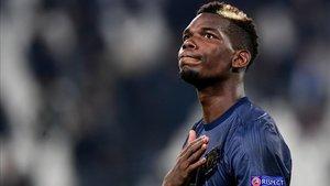 Paul Pogba se mostró emocionado en su regreso al Juventus Stadium