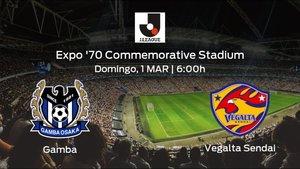 Previa del encuentro de la jornada 2: Gamba Osaka - Vegalta Sendai