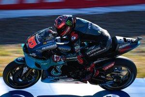 Quartararo, en acción en la pista de Jerez