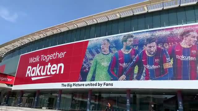 Rakuten actualiza la imagen del Barça en el Camp Nou