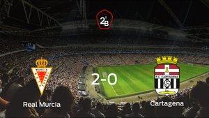 El Real Murcia suma tres puntos a su casillero tras ganar al Cartagena (2-0)