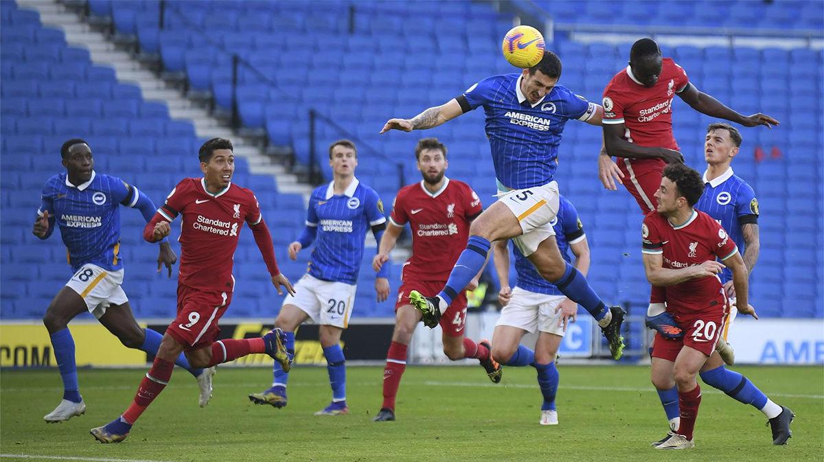 El resumen del partido entre el Brighton y el Liverpool