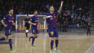 Rivillos celebró hasta tres goles ante el Ríos Renovables