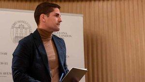 Robert Moreno compareció ante la prensa en Barcelona