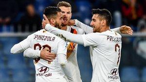 La Roma venció por 1-3 al Genoa en el Luigi Ferraris
