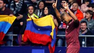 Rondón fue la figura de Venezuela en el amistoso ante Argentina
