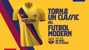 separation shoes aa015 a6e2b Here is Barça's new away shirt for 2019/20, in honour of La ...