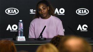 Serena Williams, durante su rueda de prensa