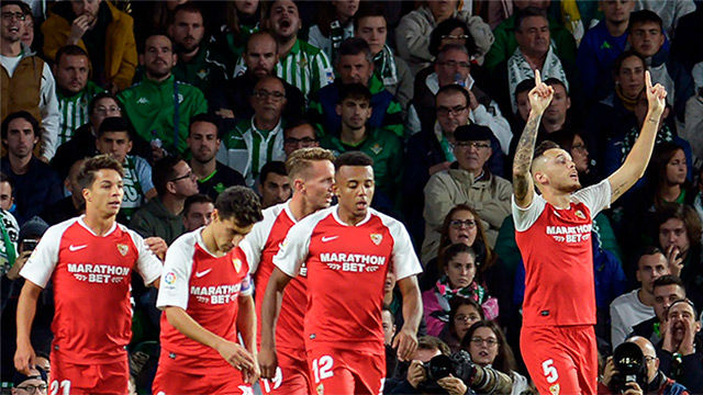 El Sevilla se lleva el derbi andaluz a domicilio