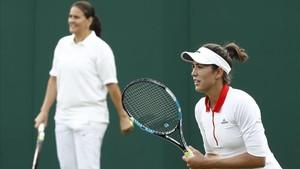 La sintonía entre Garbiñe y Conchita en Wimbledon fue excelente