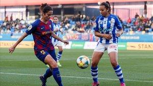 El Sporting Huelva durante una de sus últimas visitas al Barça