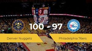 Triunfo de Denver Nuggets ante Philadelphia 76ers por 100-97