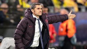 Valverde analiza el 0-0 en el debut del Barça en Champions