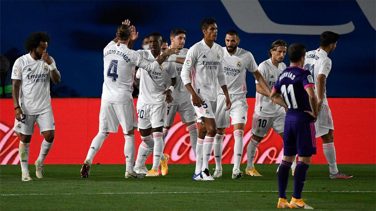 Vinicius aprovechó un error defensivo del Valladolid para dar la victoria al Madrid