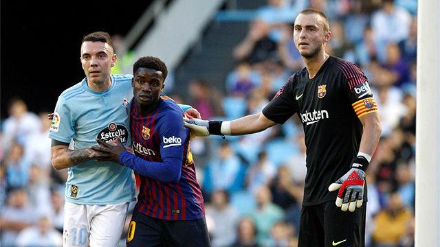 Wagué pudo marcar su primer gol como jugador del FC Barcelona