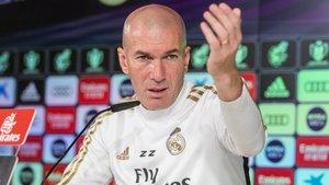 Zidane, en una imagen en rueda de prensa