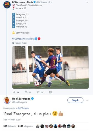 El Real Zaragoza pide al Barça que no lo llame  Saragossa  7a0929e84f83b