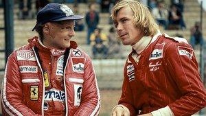 Niki Lauda y su histórico rival James Hunt