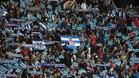 La afición del Espanyol reclamó respeto al preidente de LaLiga con los horarios