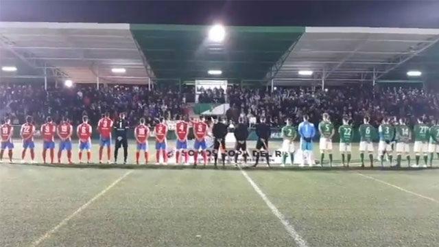 El Álamo se estrenó en Copa del Rey con un himno franquista